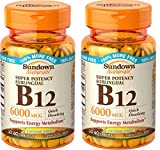 Best  - Sundown Naturals Sublingual B-12 6000 Mcg Tablets, 120 Review