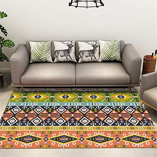 RUGMRZ Carpet For Bedrooms Orange Salon carpet orange geometric stripe pattern durable carpet anti-slip Washable Rugs 80X120CM Outdoor Carpet For Garden 2ft 7.5''X3ft 11.2''
