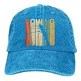Egoa Sombrero Snapback Unisex Vintage Style Rowing Silhouette Vintage Chic Denim Gorra de béisbol Ajustable Sombreros de Camionero