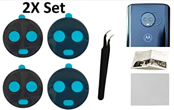 2X Back Rear Camera Glass Lens Cover Replacement + Tool + Guide with Tips + Adhesives Preinstalled + Tempered Glass + Clean Cloth for Motorola Moto X4 (Any Carrier)