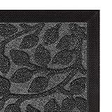 Aucuda Durable Indoor Outdoor Door Mat for Patio Outside Welcome Mat-Fall Door Mat Outdoor-18x30 Inch,Front Door Mat Rug,Doormats for Entrance Way,Non Slip Waterproof,Grey Leaf Design