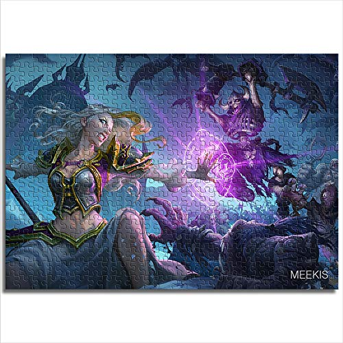 yuhho Puzzle 1000 Hearthstone Legende der Warcraft-Helden HearthStoneHeroesOfWarcraft Lover oder Friend Gift 38x52