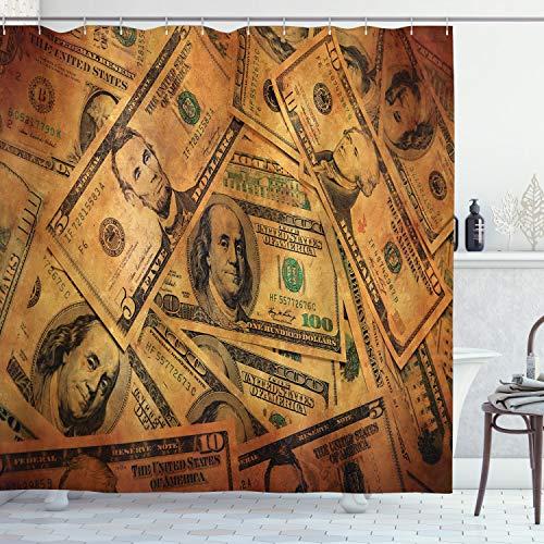 ABAKUHAUS Dinero Cortina de Baño, Sawbuck Billete de Cinco