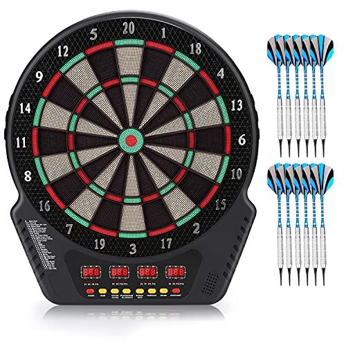 """Biange Electronic Dart Board, Dartboard Set 13.5"""" Target Area Digital Soft Tip..."""