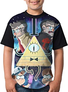 maichengxuan Camisetas de Manga Corta, Youth Tops Graphic Gravity-Falls T Shirts Short Sleeve tee Shirts 3D Printed T-Shir...