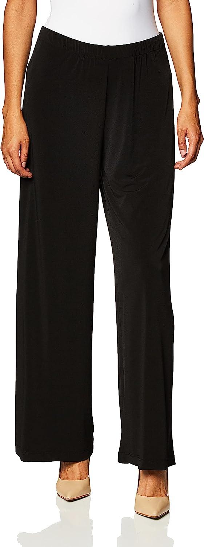 AGB Women's Soft Knit Palazzo Wide Leg Pant (Petite, Standard and Plus Sizes)