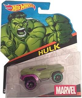Hot Wheels, Marvel Character Car, Hulk (Green) Die-Cast Vehicle #5