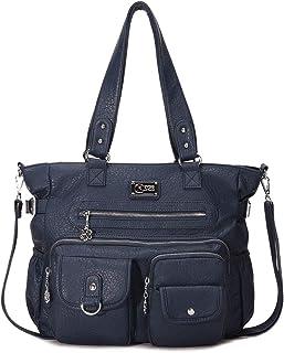 Angelkiss Damen Handtasche aus weichem Leder mit Reißverschluss