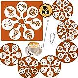 SOSMAR 45 Muster Cappuccino Kaffee Dekorieren Schablonen - für Weihnachten