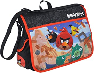 Angry Birds Boy's Black/Red Messenger Bag