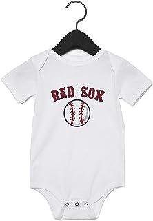 Bib Booties Set FREE SHIPPING Boston Red Sox Infant Newborn Baby Boy Creeper