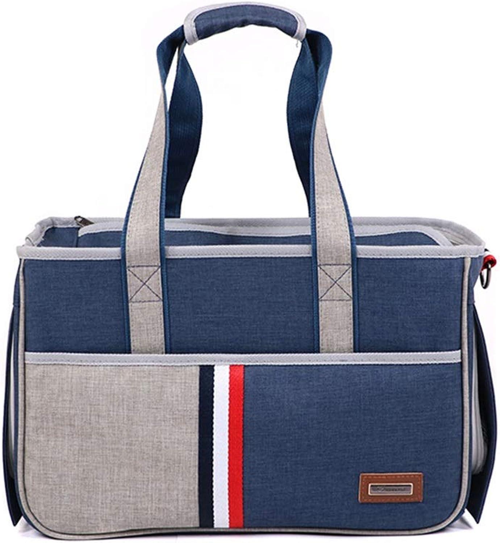 Pet Backpack, Travel Bag Pet Out Carrying Bag Messenger Bag Fashion Handbag(S, Bear 03kg) (color   Royal bluee)