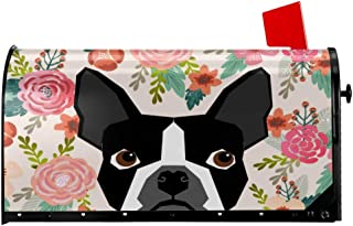 Foruidea Boston Terrier Dog Mailbox Covers Magnetic Mailbox Wraps Post Letter Box Cover Standard Oversize 21 X 18 Mailwrap Garden Home Decor