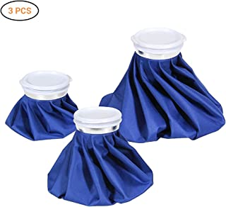"Ourine Ice Bag, 3-Pack (6""/9""/11"") Hot And Cold Reusable Ice Bag, Ice Cold Pack for Injuries, Hot & Cold Therapy and Pain ..."
