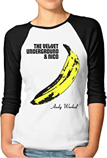 The Velvet Underground Women's 3/4 Sleeve Raglan Baseball Tshirt