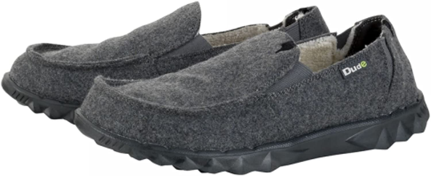 Hey Dude Slip On Men shoes Farty Chalet Grey Felt Leather Insole