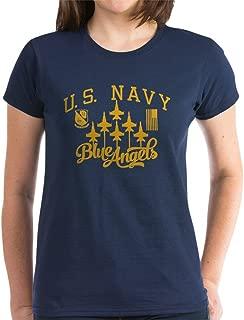 U.S. Navy Blue Angels Squa Womens Cotton T-Shirt