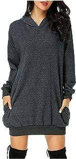 Women's Long Sleeve Winter Hooded Solid Color Soft Medium Sweatshirt Top Hoodies Outerwear Sweatshirt Coat Overcoat