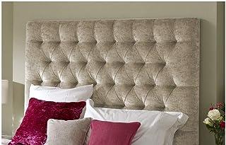 H-Cube meble zagłówek igłowany rumuński Chesterfield Divan łóżko zagłówek zgnieciony aksamit montowany na ścianie (szampan...
