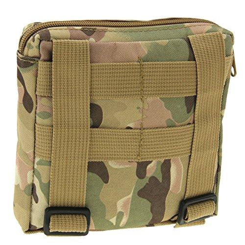 Armée Carrée robuste Style Zipper Sac Ceinture pour les activités en extérieur camouflage, Waldtarn