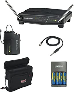 Audio-Technica ATW-901A/G System 9 VHF Wireless Unipak System with AT-GcW Guitar/Input Cable, GM-1W Mobile Pack & 4-Hour Rapid Charger Kit