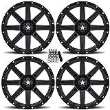 MSA M33 Clutch UTV Wheels/Rims Black 14' Polaris RZR 1000 XP/Ranger XP 900/1000