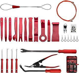 JoaSinc 59PCS Herramientas de Desmontar Coche Kit, Nilón Desmontaje/Eliminación Kit, para Desmontar el Salpicadero Radio, Audio de Coche, Panel Frontal, Audio Vehículo Interior Recubrimiento