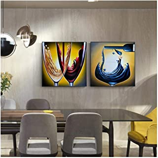 Cjyrjcc Abstract Wine Glass Painting Poster And Print For Living Room Dining Room Big Size Wall Art Hd Cuadros Salon Decor...