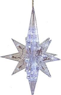 Kurt Adler UL 50-Light 19-Inch White LED Bethlehem Star