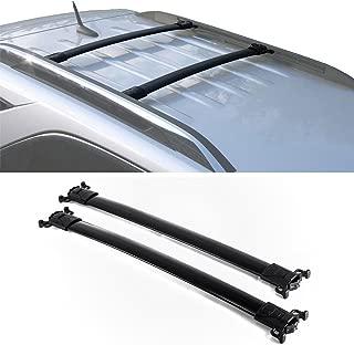 Pair Top Rail Carries,JM for 10-17 Chevy Equinox GMC Terrain Blk Al Roof Racks(Need Factory Side Rails)