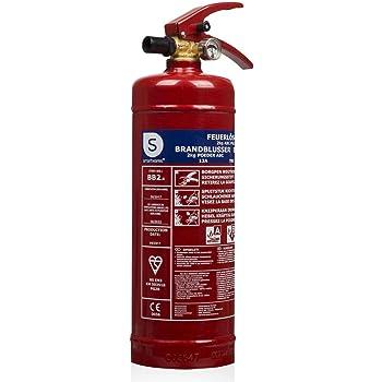 Smartwares 10.014.68 Extintor de polvo Seco, Resistencia al Fuego, ABC, Incluye Soportes BB2, 2 kilogramos, Color Rojo