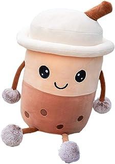 Bubble Milk Tea Pillow, Plush Pillow, Soft Plush Padding, Creative Boba Bubble Tea Cup Doll Pillow, Children's Cushion, Sl...