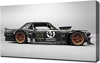 Lilarama USA 2014-Hoonigan-Ford-Mustang-RTR-by-Ken-Block-V2 Canvas Art Print - Wall Art - Canvas Wrap