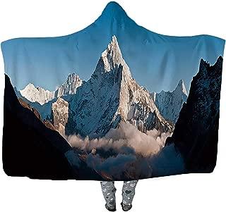 CUDEVS Cloud Mountain Peak White Summit Panorama AMA Dablam Himalayas Nepal Wearable Blanket,Adult Women Men Kids Wearable Blanket,045208,60''W x 40''H