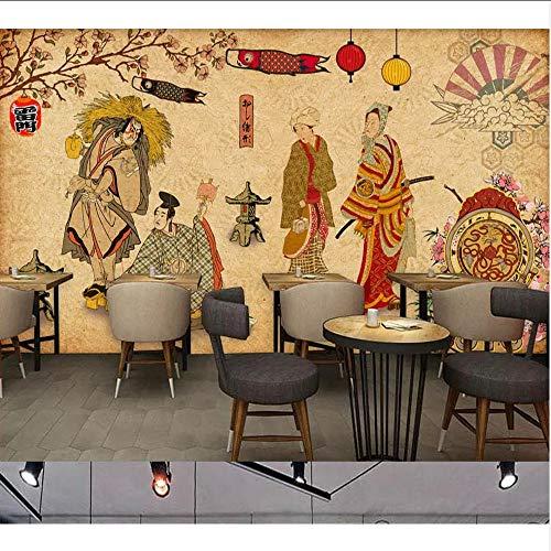 Wuyii muurschildering, vintage, restaurant, Japanse sushi-tent, achtergrond, wanddecoratie 250 x 175 cm.