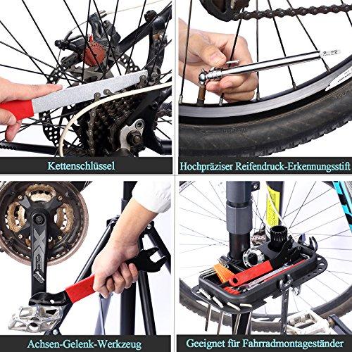 Yorbay Fahrrad Werkzeugkoffer 48-TLG Werkzeugset im praktischen Tragekoffer universelles Fahrradwerkzeug zur Fahrradreparatur zu Hause - 6