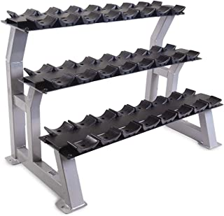 3 tier dumbbell rack with saddles