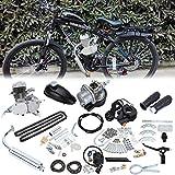 Samger Samger 2 Temps Kit Moteur Velo Gaz Moteur Kit de Conversion de Bicyclette (Argent, 50cc)