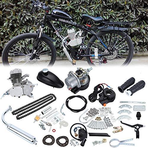 Samger Samger 2 tiempos Kit Motor de Bicicleta Gas Motor Kit de Conversión de Bicicleta (Plata, 50CC)