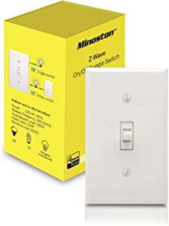 Zwave Plus Switch On/Off Smart Toggle Light Switch Works With SmartThings, Wink, Support 3-Way Installation, Signal Repeater, Required Z-Wave Hub, White(MS12Z)