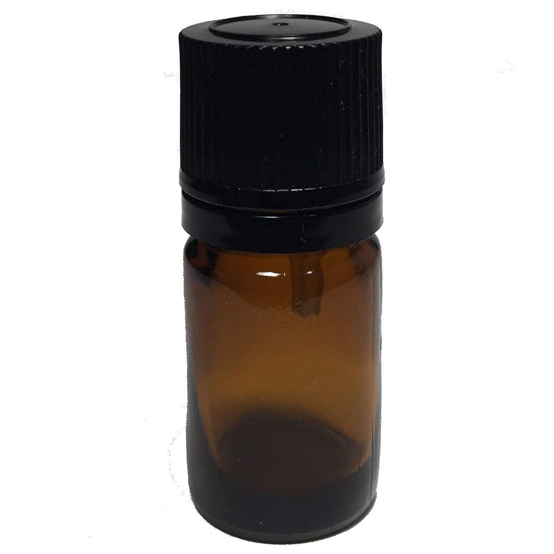 行く便益いつでもエッセンシャルオイル用茶色遮光瓶 ドロッパー付き(黒キャップ) 5ml ガラスビン 10本セット