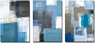 Abstract Series: 【Communication】 Living Room Decoration Triptych Geometric Abstract Color Art Modern Minimalist Abstract P...