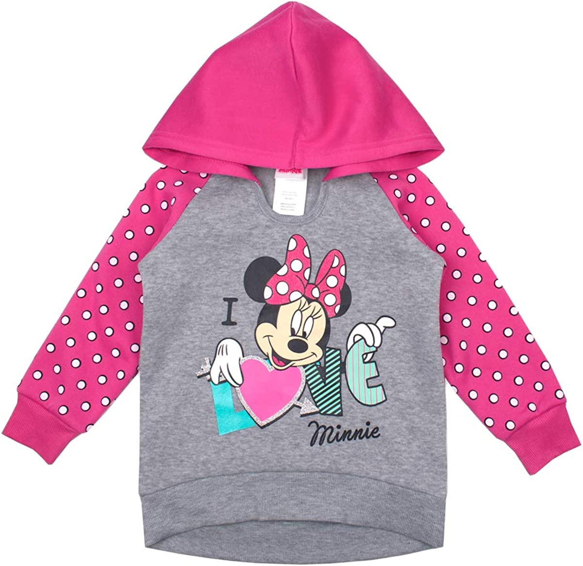 Disney Cheap mail order shopping Little Girls Minnie Popular brand in the world Mouse Love Hoodie Dot Sweatshir Polka
