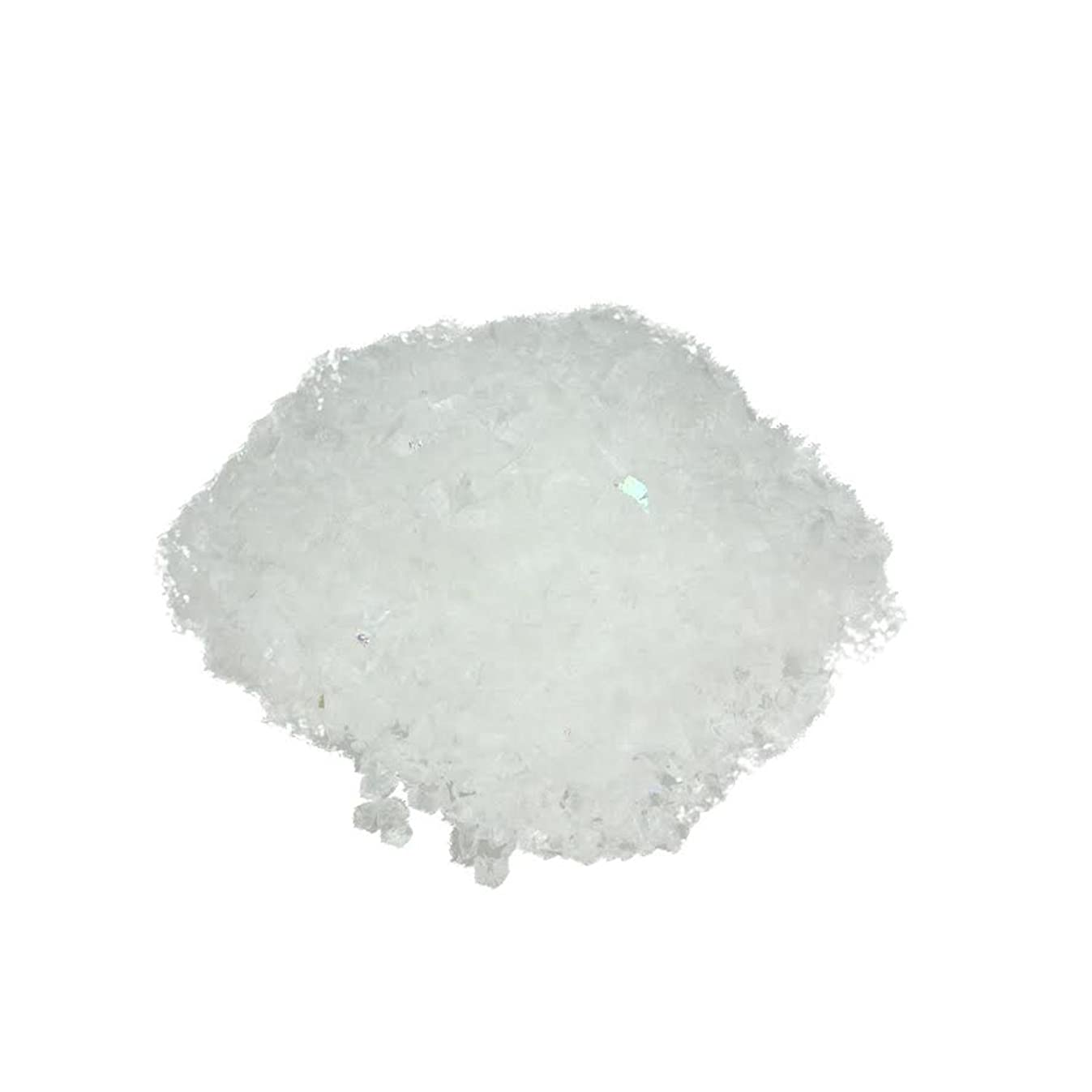 Buffalo Snow 1.5 oz. White Iridescent Artificial Powder Snow Twinkle Flakes for Christmas Decorating