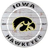 KH Sports Fan 20'x20' Iowa Hawkeyes Classic Weathered Circle Wall Sign