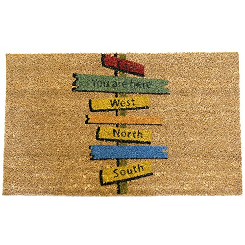 Rubber-Cal 'Need Direction? You are Here Funny Doormat, 18 x...