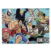 One Piece(ワンピース) (1) マイクロピース 500ピース ジグソーパズル 書架-木製パズル 絵画 大人 向け(6歳以上が適しています)(52.2x38.5cm)