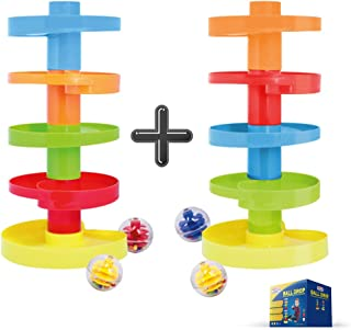 Educational Ball Drop Toy for Kids. Spinning Swirl Ball Ramp Activity Toy for Toddlers
