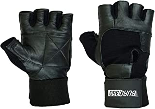 Weight Lifting Gloves With Adjustable Long Wrist Wraps And Extra Padding For Gym And Exercise.