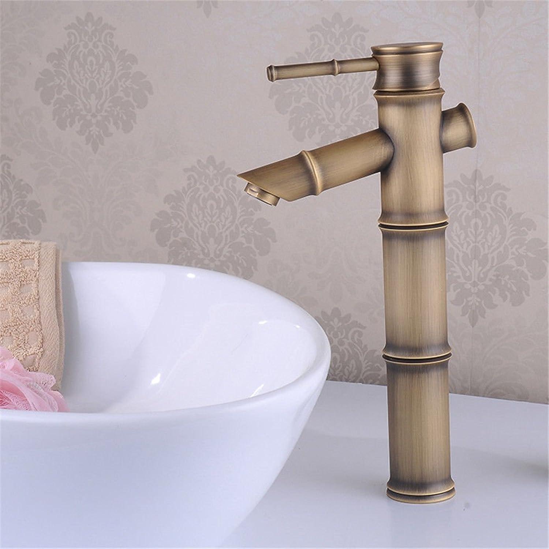Good quality Antique Basin Sink Mixer Tap The Antique brass faucet antique bamboo single hole basin art basin sink mixer console